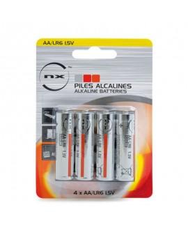 Pile alcaline AA LR6 blister de 4