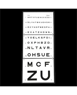 test visuel échelle optométrique de Monoyer 5 mètres