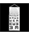 test visuel d'Armaignac (E de snellen)