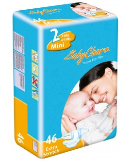Couche T2 / 3-6 KG Baby Charm Super Dry Nappy Mini (x46)