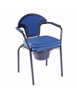 Chaise percée avec accoudoirs