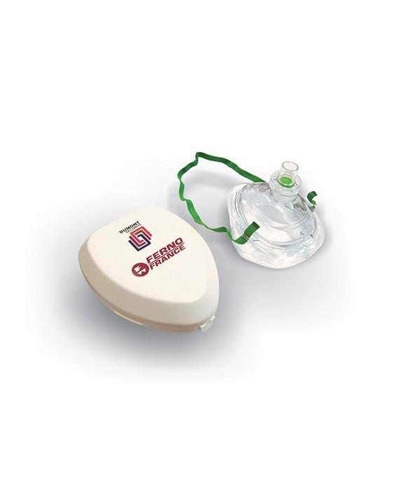 MASQUE POUR REANIMATION bouche à bouche fourni avec étui en plastique